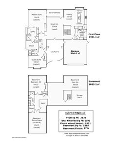Floor Plan, Sunrise Ridge Living, Spanish Style Home, Stucco, Fort Collins,