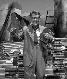 Burgess Meredith as Henry Bemis in The Twilight Zone episode, Time Enough at Last.