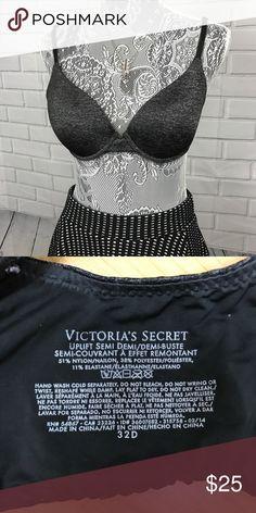 Victoria's Secret Semi Demi Bra! Sz 32D Victoria's Secret Semi Demi Bra! •EUC •Pretty heather gray shade •Nylon, polyester & spandex blend Victoria's Secret Intimates & Sleepwear Bras