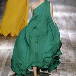Lanvin Spring 2008 Green Dress Photo