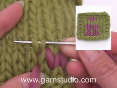 In this DROPS video we show how you can sew duplicate stitches. If a pattern calls for many different colors, some can be sewn on afterward using duplicate stitches. Baby Knitting Patterns, Baby Cardigan Knitting Pattern Free, Knitting Stitches, Knitting Yarn, Stitch Patterns, Drops Design, Drops Baby, Knitting Help, Tunisian Crochet