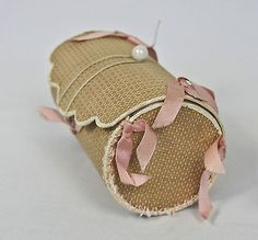 Early 1900s Shaker Woven Wood Sewing Kit Case Lined in Pink Silk | eBay