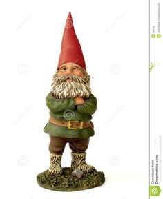 Garden gnome. I love his hat's imperfections.the little crooked top.