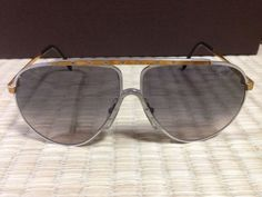 Alpina Sunglasses (Men's Pre-owned Vintage Silver & Gold Aviator Sun Glasses, West Germany)