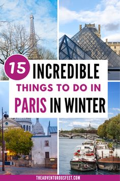 Looking for what to do in Paris in winter? Here are the most fun things to do in winter in paris that will make you love the winter season. | what to wear in paris in winter| paris in winter travel | best places to visit in paris in winter| best things to do in paris in winter| paris weather in winter| hidden gems in paris| unusual things to do in paris winter| things to do in paris during winter| travel places in paris in wintertime #pariswinterthingstodo #bestthingstodoinparisduringwinter Paris Tips, Paris Travel Tips, Paris Winter, Christmas In Paris, Romantic Things To Do, Fun Things, Cool Places To Visit, Places To Travel, Day Trip From Paris