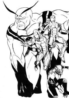 Marvel Heroes by AnoZero