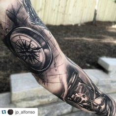 "124 Likes, 1 Comments - Tattoo Royalty (@tattoo_royalty) on Instagram: ""#Repost @jp_alfonso with @repostapp. ・・・ Added on to this sleeve for one of my #kentucky clients.…"""