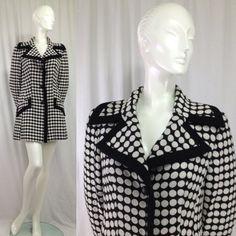 Vintage 1960s Lilli Ann Polka Dot coat and by momandpopcultureshop, $450.00