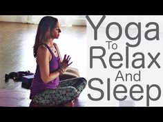 30 minute Bedtime Yoga for night to Relax and Sleep is designed to help you to unwind and rest. Every day is filled with stress from work, family, school and. Yin Yoga, Yoga Régénérateur, Yoga Meditation, Stretching Exercises For Flexibility, Stretches, Night Time Yoga, Videos Yoga, Free Yoga Classes, Bedtime Yoga
