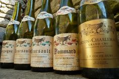 Domaine Jean Francois Coche Dury - Corton Charlemagne 1996 (first one on the right) . The cult wine per excellence ! Coche Dury produces some of the best white wines of the world. 1997 is the best vintage of the Corton Charlemagne produced by Coche Dury (Parker : 98/100, Jancis Robinson : 20/20, Wine Spectator : 99/100, Revue des Vins de France : 19/20, Burghound : 97/100)