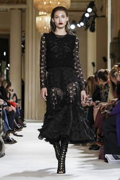 Giambattista Valli FW 2017 Paris... Beautiful. Imagine in bridal tones. For that designer look without the designer $$$, have this custom-made to fit your style and budget.