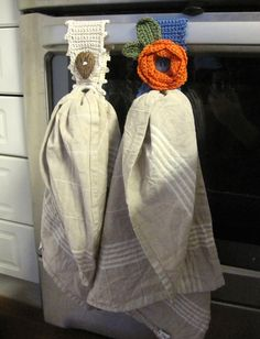 Crochet Kitchen Towel Holder