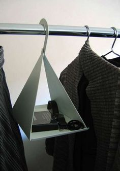 hanger; Neat way of displaying accessories to compliment the clothes on the same rail...