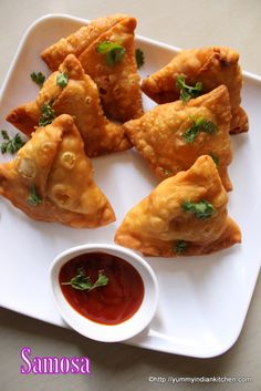 Samosa or aloo samosa is a cone shaped/ triangle shaped snack recipe stuffed with aloo matar stuffing and is the most popular evening snack throughout India