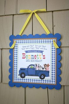 Little Blue Truck Birthday Invitation Personalized Digital