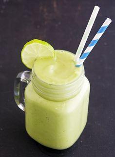 Avocado Lime and Basil Smoothie