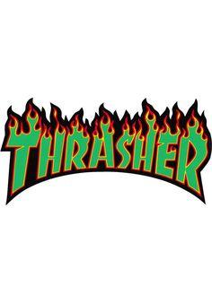 Thrasher Flame-Sticker-(large) - titus-shop.com #Misc. #AccessoriesFemale #titus #titusskateshop