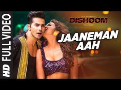 Jaaneman Aah Lyrics from Bollywood Movie Dishoom is sung by Antara Mitra, Aman Trikha composed by Pritam and written by Mayur Puri Bollywood Music Videos, Bollywood Movie Songs, Latest Bollywood Songs, Bollywood Posters, Video Cf, Party Anthem, Dishoom, Party Songs, Mp3 Song Download