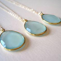 Sea Foam Chalcedony Pendant Necklace, $59.00