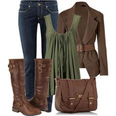 Such a cute outfit!! not sure on the green but love the rest