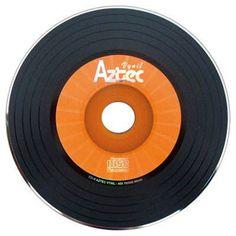 CD-r virgem vinil laranja