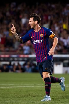 Lionel Messi Photos - Lionel Messi of FC Barcelona celebrates after scoring  the opening goal during the La Liga match between FC Barcelona and Girona  FC at ... 47390c99d26fd