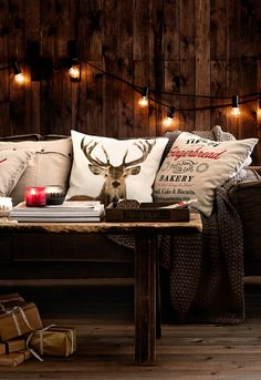 Scandinavian Christmas decor  / deer Pillow cases