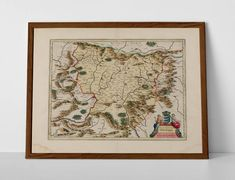 Antique Map of Transylvania, originally created by Willem Janszoon Blaeu, now available as a 'museum quality' historic style print. Old World Maps, Vintage World Maps, Historical Maps, Travel Posters, Romania, Framed Prints, Dracula, Antiques, Museum