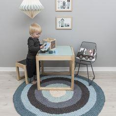 Textiles infantiles - Alfombra Colour, azul pastel