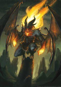 ArtStation - Fire Demon, Alvaro Ramirez