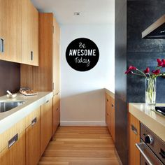 Be Awsome Today Wall Sticker - Inspirational Wall Decal Vinyl Words Mural Quote Lettering