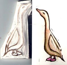 Letterboxing / stamp carving tutorial....but im much more interested in the way the goose looks! very beatrix potter