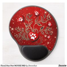 Shop Floral Star Paw MOUSE PAD created by DevonSun. Romance And Love, Matching Gifts, All Dogs, Love Heart, Cat Lovers, Dog Cat, Stars, Floral, Heart Of Love