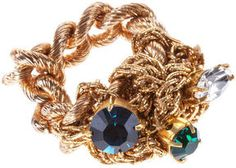 Crystalised Tangled Ring -Blue on shopstyle.com