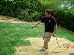 Turf paint, also called lawn paint, is used to keep your lawn looking good, regardless of the weather! Chromatech Turf Paints are suitable for lawn spraying, marking paints or grass painting.