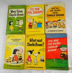 Peanuts paperbacks. I had dozens, often without covers, @ 10 cents each from the remainder bookshop