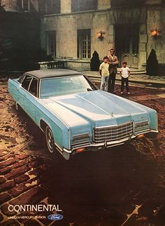 1971 Lincoln Continental Vintage Magazine Ad from Sports Illustrated