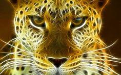 Tigre hecho a pincel por niño de 11 años