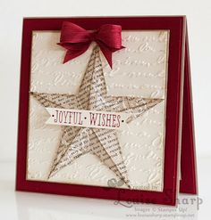 Stampin Up Christmas Star. Joyful Christmas Card.  Just Add Ink - Photo Inspiration - By Louise Sharp