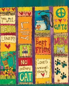 Add your pet's name! These custom Cat Art Garden Poles make a perfect way to commemorate our special furry friends. ~ Suitable for indoor or outdoor use ~ Great for container pots ~ Laminated f Lovers Art, Cat Lovers, Peace Pole, Garden Poles, Pole Art, Cool Pins, Custom Art, Yard Art, Hand Painted