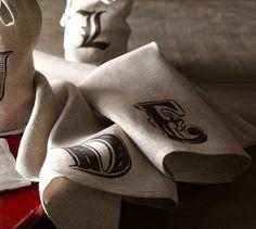 Textured Linen Bar Towel, Set of 2 | Pottery Barn