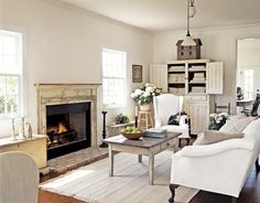 a traditional American living room, perfect for a country house.  design by Nancy Fichelman.