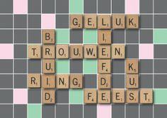 Scrabble trouwkaart