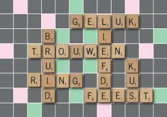 Scrabble trouwkaart