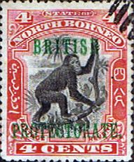 North Borneo 1901 British Protectorate Overprint Good Used SG 130 Scott 107 Other Malayan Stamps HERE
