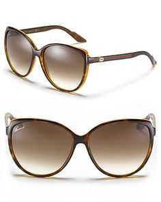 Gucci Cat Eye Sunglasses with Web Temples | Bloomingdale's