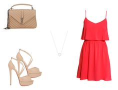 """""""131 outfit"""" by julieannbb13 on Polyvore featuring H&M, Tiffany & Co., Christian Louboutin and Yves Saint Laurent"""