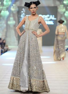 I am in love with this front slit floor length Anarkali. Seen at PFDC L'Oreal Paris Bridal Week 2014
