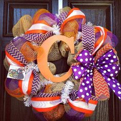 Burlap Clemson Wreath for the Fall...Would love someone to make me this!  :)