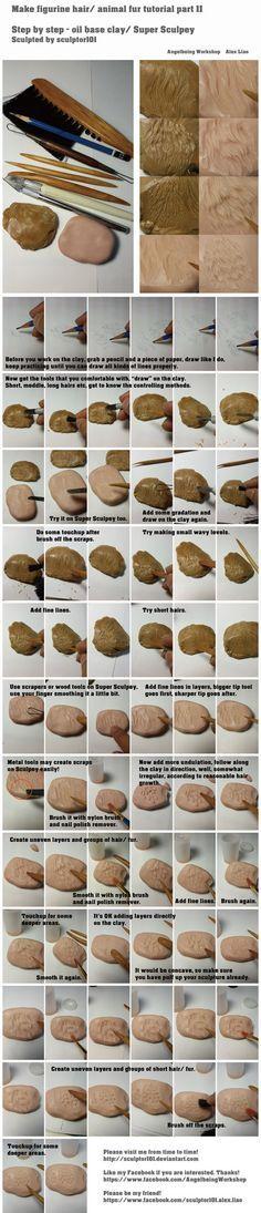 Making figurine hairs animal fur tutorial part 2 by sculptor101 on deviantART